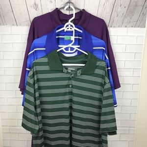 Lot of 3 Nike Ben Hogan Golf Shirts 3XL